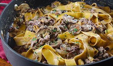 Quick and easy to pull together on a weeknight, this Venison Stroganoff Recipe requires few ingredients but makes a filling dinner that everyone will love.