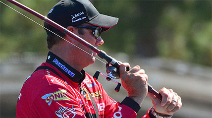 One thing is for certain when Kevin VanDam is in the field, he has the drive and determination to try and be the first to reach a goal whenever he is on the water.