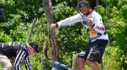 While Jason Christie wasn't the first angler to record a bass to SCORETRACKER LIVE, he did it more frequently than the rest of the field.
