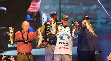 Casey Ashley, who on Sunday evening capped three days of superb fishing on his home water of Lake Hartwell and captured one of the top prizes in all of fishing, the 2015 Bassmaster Classic Championship.