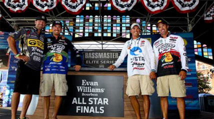 By besting their Friday opponents, Casey Ashley, Edwin Evers, Ott DeFoe and Gerald Swindle earned their way into the second round of the Evan Williams Bourbon All-Star Championship on the Alabama River.