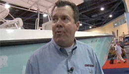 Trev Gowdy talks with Bill Cordes from Contender boats about some new boats at the Miami Boat Show