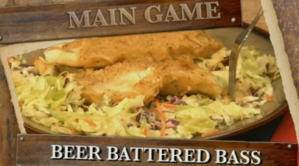 A delicious recipe for bass fillets cooked in a Texas-style beer batter.