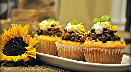 It may sound different, but this savory venison cupcake is a chili lovers dream.
