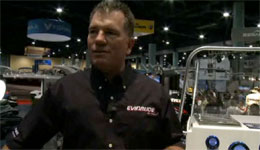 Evinrude's Eric Olson demonstrate's its new ICON fly-by-wire system