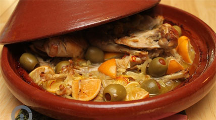 An easy to make recipe with tangy lemons, salty olives and earthy saffron slow cooked with pheasant in a tajine.