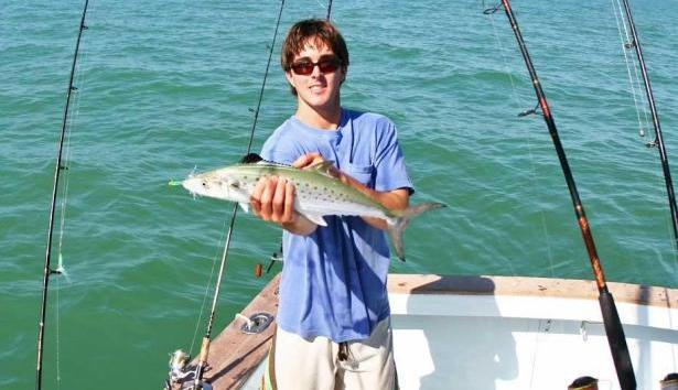 Nick Stanczyk of Bud N' Mary's Marina holds a Spanish mackerel caught in Florida Bay. (Mike Suchan photo)