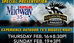 In an exclusive 90-minute television presentation, Outdoor Channel viewers will experience all the drama of the evening with backstage footage, red-carpet interviews and acceptance speeches of all 24 winners who took home the coveted Golden Moose Awards.