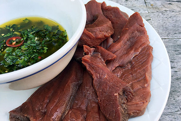 Grilled Chimichurri Elk Venison Steak Ingredients