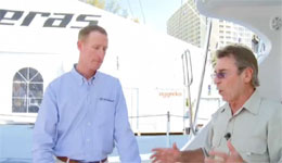 Dennis Braid chats with Dan Bornarth of Hatteras Yachts on their new 60' convertible