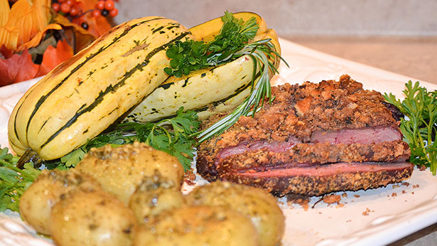 Herb-Crusted Smoked Elk Backstrap Recipe