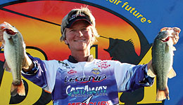 Pro angler Pam Martin-Wells will get to add another entry into her life resume as she earned a hard earned, run away victory in the inaugural Lady Bass Anglers Association (LBAA) 2011 Lady Bass Classic on Kentucky Lake.