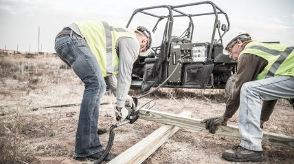 Polaris has engineered a Polaris RANGER CREW Diesel side-by-side utility vehicle with an integrated multi-power system, a first for vehicles in this category.