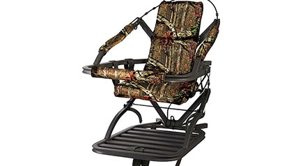 If searching for a comfortable climbing treestand offering lots of room, look no further; this mega stand is perfect for, but not limited, larger hunters.