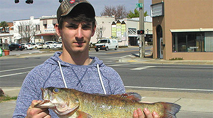 Tucker Martin, 17, from Chipley, set a new state record for shoal bass on Sunday, March 8 around 5 p.m.