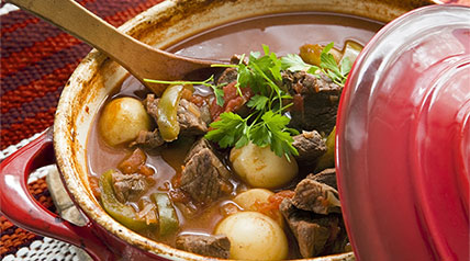 This delicious stew works best for gamey meat.