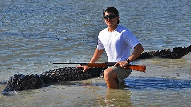 Braxton Bielski, 18, killed the Texas record alligator. (Courtesy Texas Parks and Wildlife)