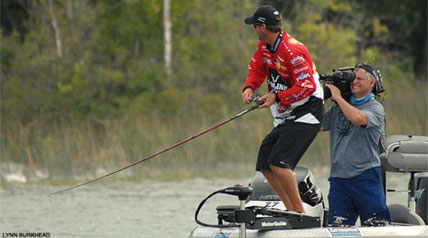 Sudden Death Day Two of the Jack Link's Major League Fishing 2014 General Tire Summit Cup in Alpena, Mich., was forecasted for stormy, adverse weather on Long Lake.
