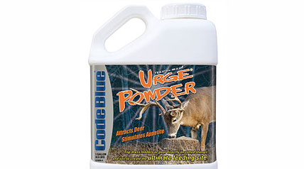 Urge Powder is formulated so deer not only smell it, they also see and taste it, greatly increasing the odds of holding a trophy buck where you want him.