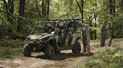 Hitting the trail, going hunting or just taking in nature, there's a Rotax® engine that will get you and your passengers to where you want to go. Choose from the 71-hp Rotax® 800R or the 82-hp Rotax® 1000 liquid-cooled V-Twin engine to match your off-road adventure.