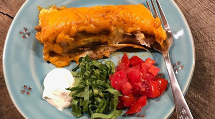 Smothered in melted cheddar cheese, these venison burritos from Lee & Tiffany Lakosky will be your wild game go-to recipe when you're not sure what to make for dinner.