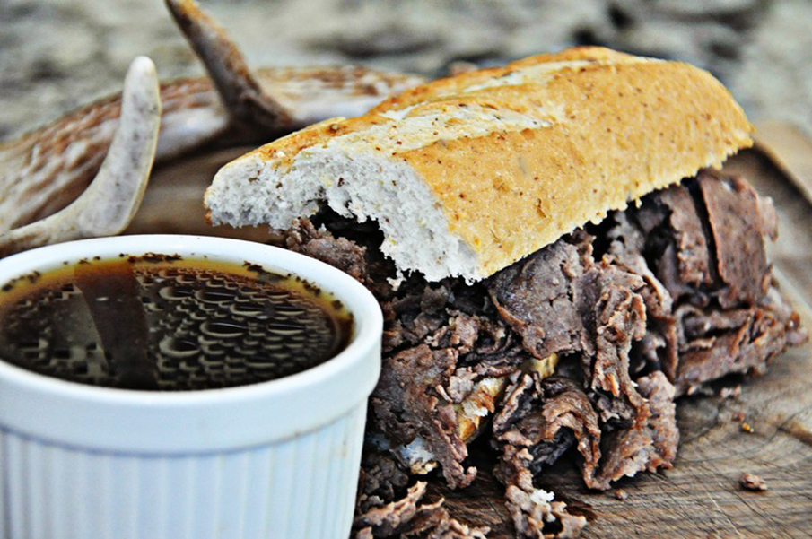 Crush Recipe: Venison French Dip with Au Jus