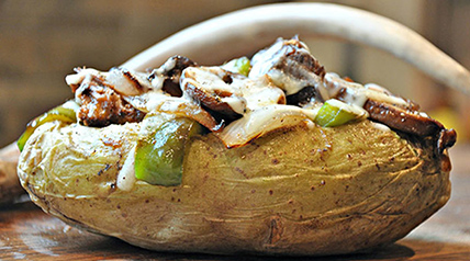 Make your stuffed baked potato the manliest with Lee & Tiffany's venison man-tato recipe.