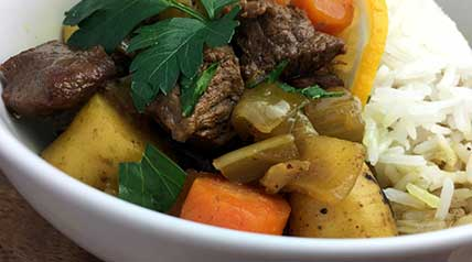 This elk venison stew recipe is easy to prepare and uses everyday ingredients to create a robust and flavorful curry rich stock.