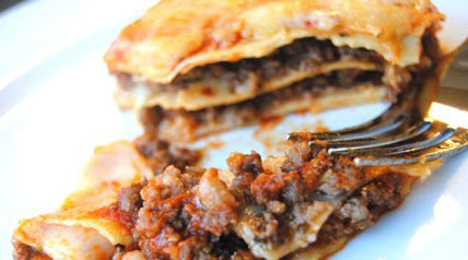 Lasagna noodles made from scratch in a Roma by Weston Traditional Pasta Machine, pasta sauce from garden ripe tomatoes strained in the Roma Tomato Strainer, and fresh ground elk meat from our COO's latest hunt make for an exceptionally delicious lasagna.