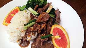 Orange Elk Stir-fry