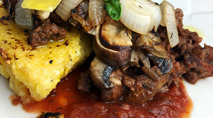 This recipe for elk venison meat sauce and polenta is so quick and simple to make, but won't let you down in flavor.
