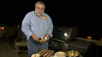 Rick Browne shows you how to cook pumpkin pie in an interesting way – on your grill!