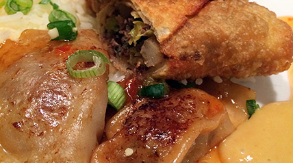 Serve these goose pot stickers with jasmine rice, sweet chili sauce, sweet hot mustard or sweet and sour sauce