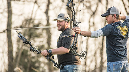 Like their bowhunting neighbors, Lee and Tiffany Lakosky to the north in Iowa, Missouri bowhunters Michael Hunsucker and Shawn Luchtel believe in value of going long.