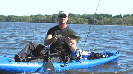 I'm ready to hit the open water in one of my kayaks to chase smallmouth and largemouth bass. The great thing about kayaks, and living in Wisconsin, is we have so many great fishing options.