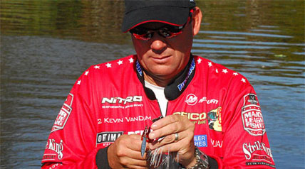 Walk into any tackle shop these days and it doesn't take long to find a lure package with the letters KVD printed on it. There are topwaters, crankbaits, spinnerbaits, jigs, plastics – lures highlighted with Kevin VanDam's likeness are everywhere.