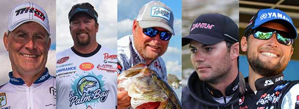 major league fishing adds 5 bass pros to select events