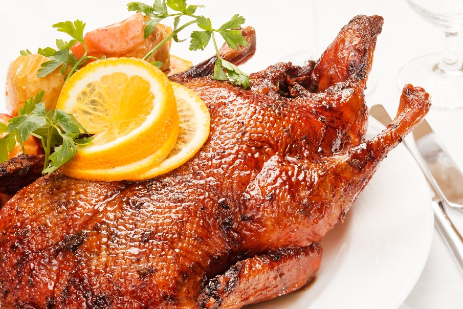 Glazed Christmas Goose (Recipe)