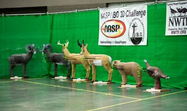 This was the first year a 3-D challenge was offered, which included foam figures of turkey, deer, bear, antelope and sheep. (Courtesy NASP)