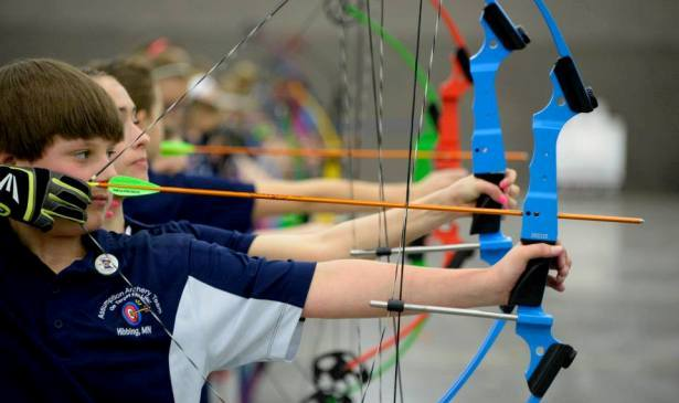 Each team member uses original 20-pound Genesis bows, along with Easton 1820 arrows. (Courtesy NASP)