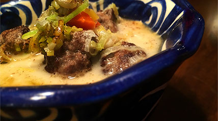 Enhance the flavor of antelope using spices that complement the meat. Antelope meatballs are mixed together with a little sage and a pinch of nutmeg. When the flavors blend with a creamy vegetable soup, you may just find yourself having seconds.