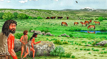 According to one scientist, early man had the ability to ambush and attack large herds of animals and did it 1.6 million years earlier than previously thought. And the increased amount of meat introduced into ancient man's diet had a strong impact on our evolutionary brain growth.