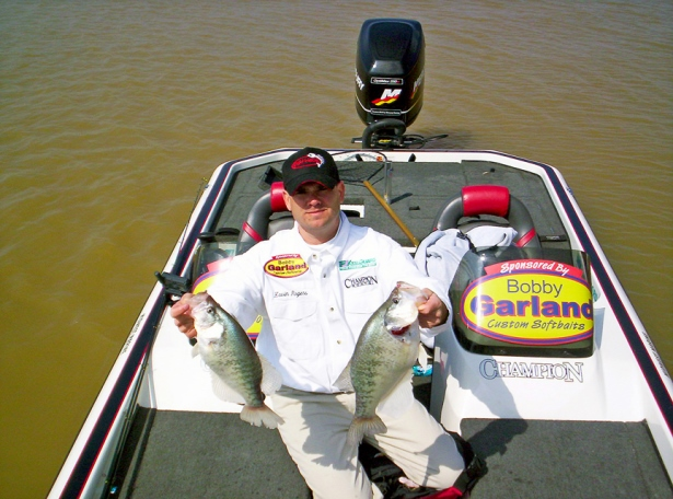 Catching big crappie like this has helped crappie pro Kevin Rogers win lots of tournaments, and often as not, in November, he catches these slabs while working jigs around standing timber.