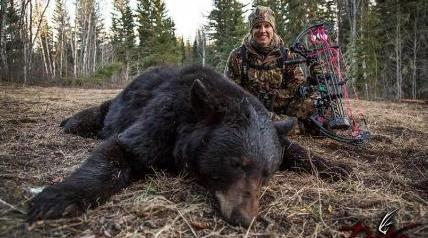 "It took two nights but Pat and Nicole Reeve's Live Hunt for bear was a success. The ""Driven with Pat & Nicole"" hosts spent six hours in a tree stand before two bears entered their setup on Timberclaw Outfitters' property in Saskatchewan, Canada."