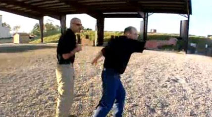 Rob Pincus and Michael Janich show you practice drills for one handed shooting.