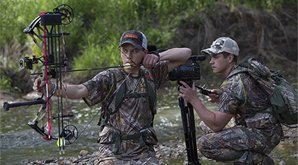 "The Holders, of ""Raised Hunting"" on Outdoor Channel, share some helpful information about hunting whitetail during the early season in warm to hot weather"