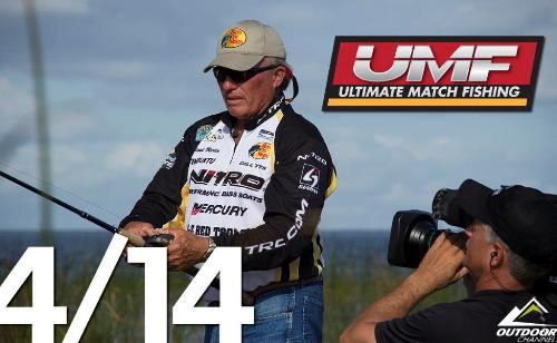 Jeff Kriet is among the 12 pros battling head to head in UMF. (Courtesy Ultimate Match Fishing)