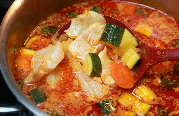 Thai Curry and Coconut Walleye Stew Recipe