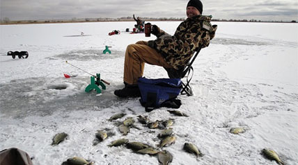 You don't need a lot of equipment to catch fish through the ice.