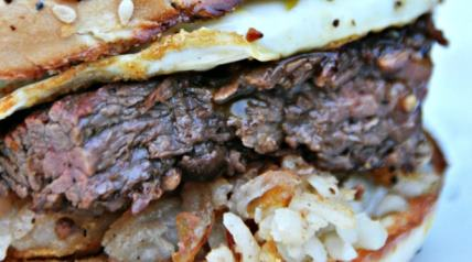 Start your day with this venison breakfast bagel.